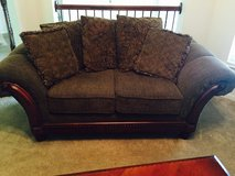 Nice condition loveseat. Very soft material and cushions are in nice condition. in Houston, Texas
