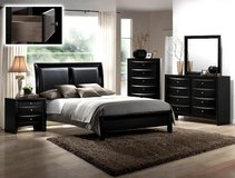 BRAND NEW! BLACK CONTEMPORARY QUEEN BED ONLY! in Camp Pendleton, California