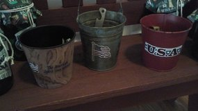 Bar Ware Vintage Beer  Bottle Openers In Patriotic Buckets-Assembled by Crafter in Bolingbrook, Illinois