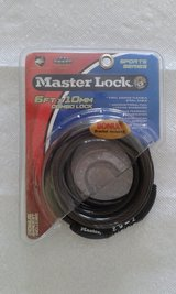Masterlock Bicycle 6' Combination Cable Lock with Bracket in Alamogordo, New Mexico