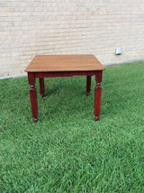 antique painted table in Kingwood, Texas