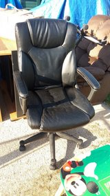 Leather chair in Fort Riley, Kansas