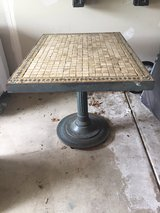 Metal and tile trivet table in Chicago, Illinois