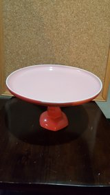 coral colored serving plate in Lockport, Illinois