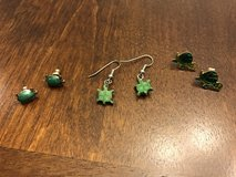Turtle Earrings in Oswego, Illinois