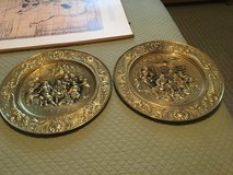 Brass plaques - dining scene in Beaufort, South Carolina