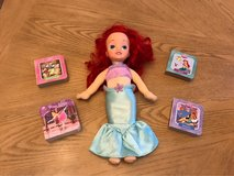 little mermaid stuffed doll and baby board books in El Paso, Texas