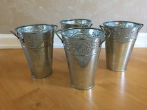 "Set of 4 French Buckets 7"" tall Elegant Expressions by Hosley in Oswego, Illinois"