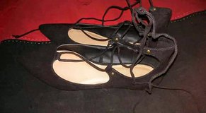 Women's Black Lace-Up Flats in El Paso, Texas