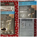 COPPER FIT ENERGY COMPRESSION KNEE HIGH SOCKS UNISEX L/XL NEW IN BOX in Fort Leavenworth, Kansas