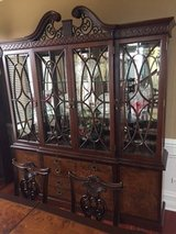 CHINA CABINET SOLID BRAZILIAN MAHOGANY in Oswego, Illinois