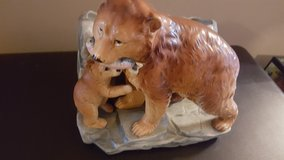 vintage  Enesco grizzly bear & cub planter in Bolingbrook, Illinois