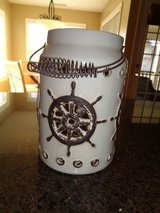 LARGE Ships Wheel candle holder Can hold Bath and body 3 wick candles in Camp Lejeune, North Carolina