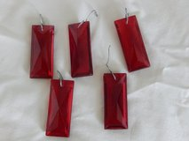 5 Red Glass Ornament Chandelier type Crystals in Oswego, Illinois