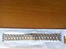 Apple Watch band stainless steel 2 tone men's 38mm in Fort Campbell, Kentucky
