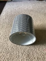 Grey Chevron Lampshade in Naperville, Illinois