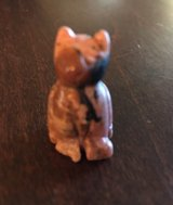 Tiny Carved Cat in Yorkville, Illinois