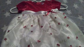 red and white dress with flowers in Fort Campbell, Kentucky