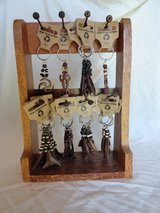 African style key rings with stand in Lakenheath, UK
