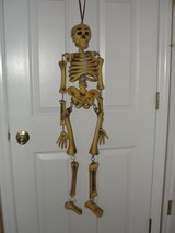 HALLOWEEN 3 FT TALL HANGING SKELETON FROM TARGET in Camp Lejeune, North Carolina