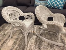 Child size wicker chairs in Plainfield, Illinois