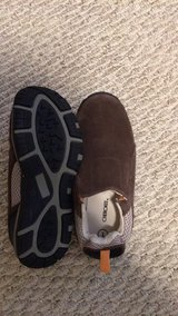 """Size 1 brown """"suede"""" shoes in Baytown, Texas"""