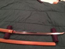 Katana 63.0 cm Unique Horimono of Abstract Dragon and Ken Sword in Okinawa, Japan
