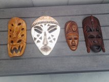 African masks in 29 Palms, California
