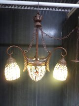 Arts and Crafts / Mission style Ceiling Light Stained Glass Chandlelier in Alamogordo, New Mexico
