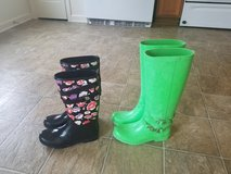 Women's size 7 Authentic Coach Rain Boots in Fort Riley, Kansas