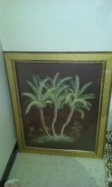 Palm trees picture in gold frame in Cochran, Georgia