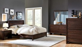 SALE! M. INTERNATIONAL LUXURIOUS SOLID HEAVY WOOD QUEEN BED SET! in Camp Pendleton, California