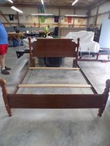 Full Size Bed, SOLID WOOD (Head Board, Foot Board, Rails) in Camp Lejeune, North Carolina