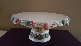 Christmas cake plate in Plainfield, Illinois