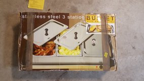 3 Station Stainless Steel Buffet Set in Fort Bragg, North Carolina