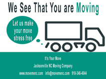 ***Are You Moving?***August Moving Special in Wilmington, North Carolina