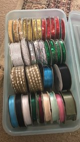 Full box of trims & ribbons with box in Kingwood, Texas