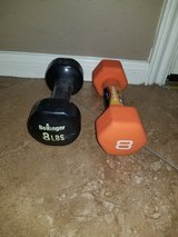 2 different 8 pound weights in Spring, Texas
