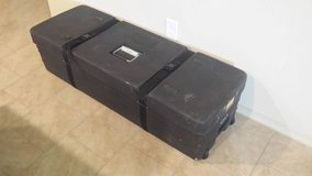 Black rolling storage cases with lid in Spring, Texas