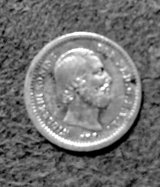1850 Netherland 5 cent coin in Beaufort, South Carolina