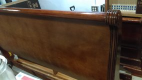 King sleigh bed - cherry wood in Livingston, Texas