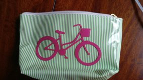 Lolo cosmetic bag with pink bicycle 6x8 in Naperville, Illinois