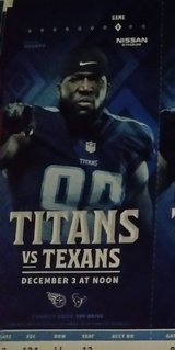 TEXANS VS TITANS in Fort Campbell, Kentucky