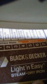 Black & Decker Steam Iron in Hopkinsville, Kentucky