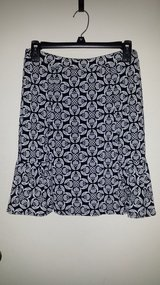 WHBM Black and White Pattern Skirt in Naperville, Illinois