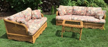 Wicker Three Piece Set in Oswego, Illinois