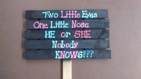 """24""""x44"""" Baby Shower Sign in The Woodlands, Texas"""