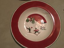 Ceramic holiday bowl in Naperville, Illinois