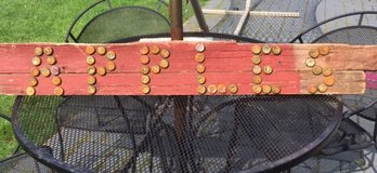 Rustic Primitive Looking Barnwood and Bottle Caps Apples Sign in Plainfield, Illinois