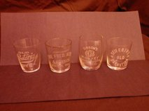 18 Pre-Prohibition Shot Glasses - 100 Years Old and More!!! in Joliet, Illinois